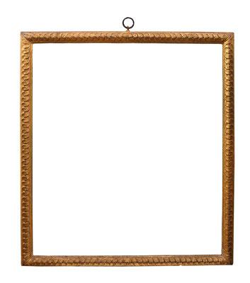0939  Manieristischer Rahmen, Toskana 16.Jh.,Nussholz geschnitzt und vergoldet,  95,2 x 82,5 x 5 cm