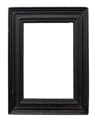 9216  Kabinett Rahmen,17.Jh., Pappelholz geschwärzt, 12,7 x 8,4 x 2,6 cm