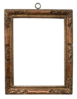 2236  Louis XIII Rahmen, Linde geschnitzt und vergoldet, 24,8 x 18,7 x 3,1 cm