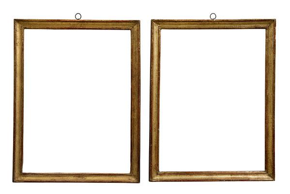 6771  Paar Louis XVI Rahmen, Weichholz profiliert und vergoldet, je 33 x 24,5 x 2,2 cm