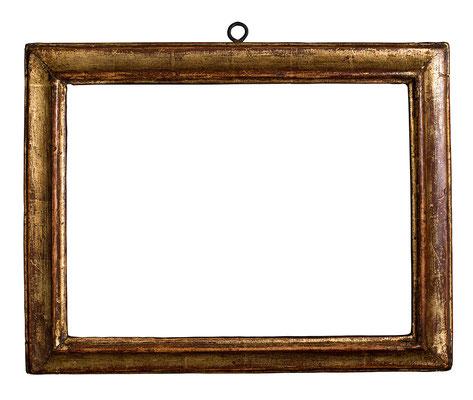 0352  Profil Rahmen, 17./18.Jh., Lindenholz vergoldet, 23,3 x 31 x 4 cm