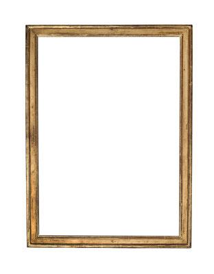 0434  Louis XVI Rahmen, Eiche profiliert und vergoldet, 83,8 x 59 x 5,2 cm