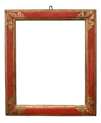 2230  Rahmen, Straßburg  Ende 18.Jh., Weichholz graviert rot gefasst und vergoldet,26,3 x 21 x 3,4 cm