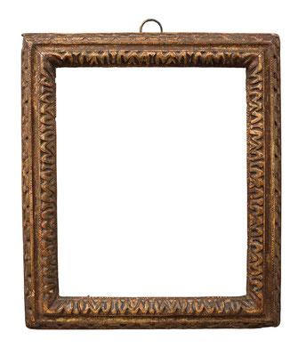 1013  Louis XIII Rahmen, Eiche geschnitzt und vergoldet, 18,4 x 15 x 2,8 cm