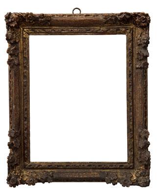 9207  Louis XIII/ XIV Rahmen, Eiche geschnitzt und vergoldet, 21,2 x 16 x 3,4 cm