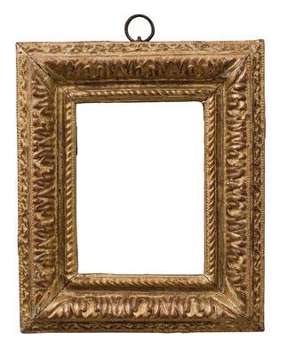 2247  Louis XIII Rahmen, Buche geschnitzt und vergoldet, 11,5 x 8,7 x 4,2 cm