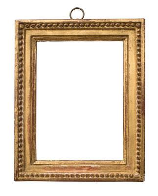 1058  Louis XVI Rahmen, Weichholz geschnitzt und vergoldet, 16,3 x 11,8 x 2,8 cm