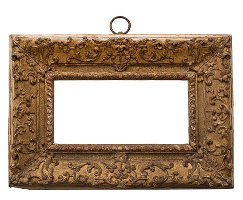 2252  Regence Rahmen, Eiche geschnitzt und vergoldet, 9,5 x 19,5 x 6,7 cm