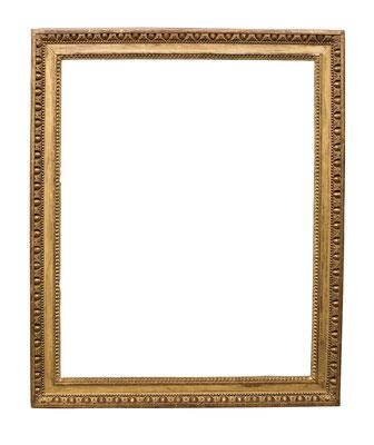 0864  Louis XVI Rahmen, Eiche geschnitzt und vergoldet, 79,5 x 63,5 x 7,7 cm