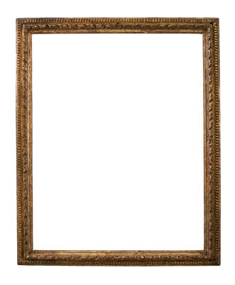 7800  Louis XIII Rahmen, Eiche geschnitzt und vergoldet,37,8 x 29,5 x 2,7 cm