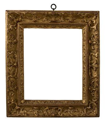 7815  Louis XIV Rahmen, geschnitzt und vergoldet, 25 x 20 x 6 cm