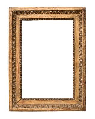 1045  Louis XVI Rahmen, Eiche geschnitzt und vergoldet, 32,3 x 21 x 5,5 cm