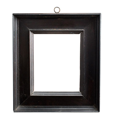 0543 Kabinett Rahmen, 16./ 17.Jh., Ebenholz furniert, 12 x 9,3 x 4,5 cm
