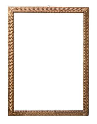 0848  Manieristischer Rahmen, Neapel? 16./17.Jh., Pinienholz geschnitzt und vergoldet, 124,8 x 87,4 x 8,1 cm