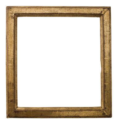 7803  Louis XVI Rahmen, Eiche profiliert und vergoldet, 32,3 x 29,5 x 3,8 cm