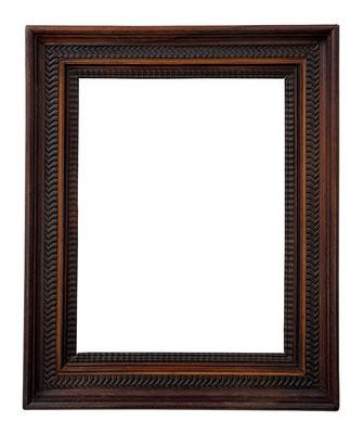 9188  Wellenleisten Rahmen, Niederlande 17.Jh., Palisanderhoz mit Buchsbaum intarsiert 34,8 x 26,4 x 6,2 cm