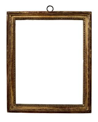 7816  Louis XVI Rahmen, Weichholz geschnitzt und vergoldet, 26,4 x 21 x 2,6 cm