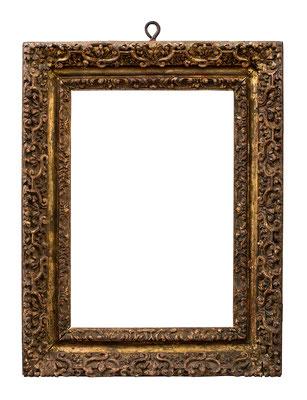 2244  Rahmen, Lombardei 17.Jh., Lindenholz geschnitzt und vergoldet, 26,5 x18 x 5,8 cm