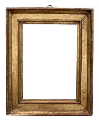 2209  Kassettenrahmen, Toskana 2.Hälfte 16.Jh., vergoldet, 49,5 x 35,2 x 10,7 cm
