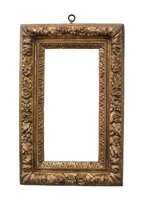 2225  Louis XIII Rahmen, Eiche geschnitzt und vergoldet, 37 x 18 x 8,4 cm