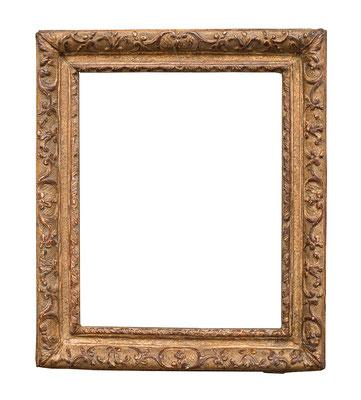 0505  Louis XIII/ XIV Rahmen, Eiche geschnitzt und vergoldet, 21,5 x 17 x 3,7 cm
