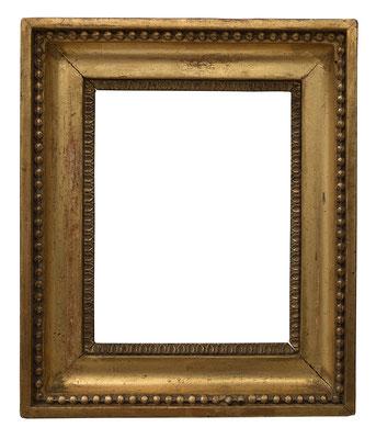 9209  Louis XVI Rahmen, Eiche geschnitzt und vergoldet, 13,2 x 10,7 x 3,5 cm