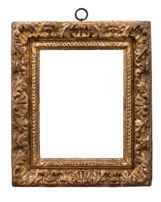 2253  Louis XIII Rahmen, Linde geschnitzt und vergoldet, 19,5 x 15 x 5,7 cm