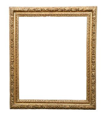 0594  Louis XIII Rahmen, Eiche geschnitzt und vergoldet, 72 x 58 x 8,4 cm