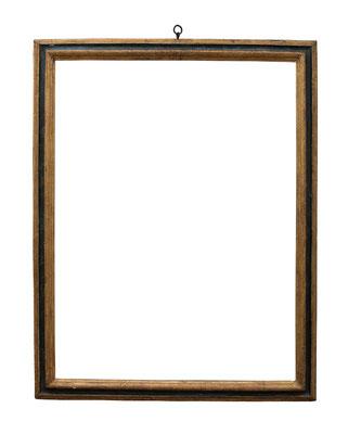 0861  Profil Rahmen, 17./18.Jh., Pappelholz polychrom gefasst und vergoldet, 96,8 x 72,9 x 6,9 cm