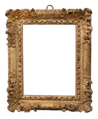 1010  Louis XIII Rahmen, Eiche geschnitzt und vergoldet, 17,5 x 12,5 x 3,7 cm