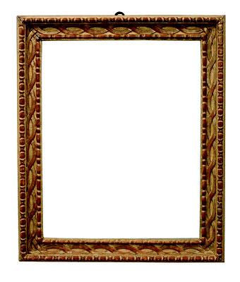 2241  Louis XVI Rahmen, Straßburg ? Ende 18.Jh., Weichholz geschnitzt und vergoldet, 39,5 x 31,4 x 5 cm