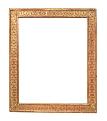 0949  Louis XVI Rahmen, Eiche geschnitzt und vergoldet, 47,7 x 37,5 x 5,4 cm