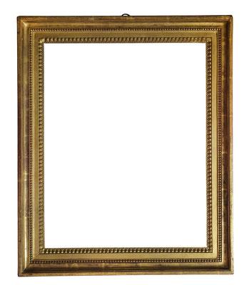 8502  Louis XVI Rahmen, Eiche geschnitzt und vergoldet, 46,5 x 34,7 x 5,5 cm