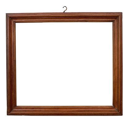 7776  Salvator Rosa Rahmen, Rom 17.Jh., Nussholz, 26 x 30,3 x 3 cm