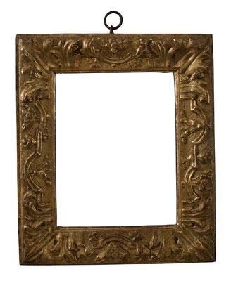 7805  Louis XIII Rahmen, Linde geschnitzt und vergoldet, 26,2 x 20 x 6,5 cm