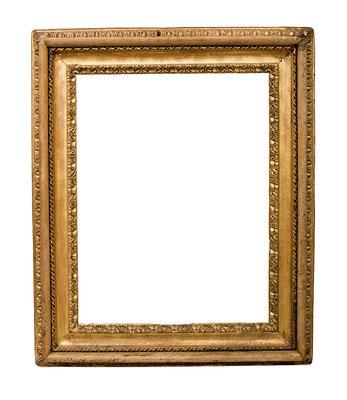 7725  Rahmen, Rom 17.Jh., Pappelholz geschnitzt und vergoldet, 81,5 x 62 x 15 cm