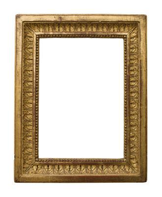 1037  Louis XVI Rahmen, Pinienholz geschnitzt und vergoldet, 28,5 x 19,9 x 5,6 cm
