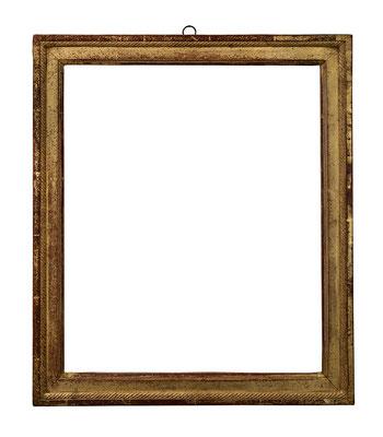 9186  Louis XVI Rahmen, Weichholz geschnitzt und vergoldet, 42 x 34 x 4 cm