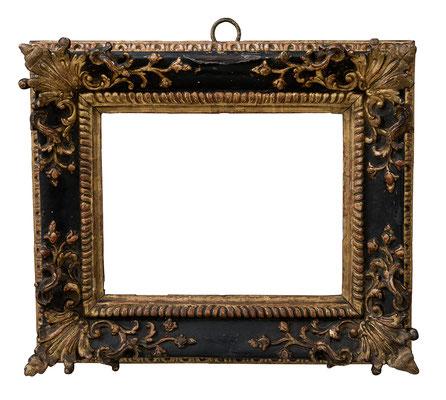 9204  Regence Rahmen, Eiche geschnitzt und vergoldet, 14,3 x 19,2 x 5,5 cm