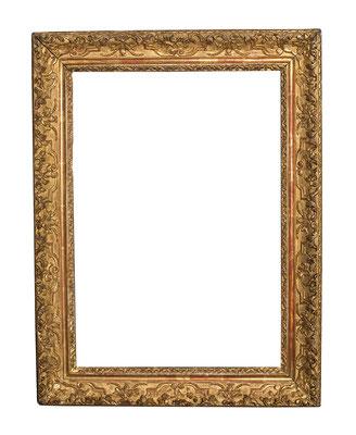0441  Louis XIII Rahmen, Eiche geschnitzt und vergoldet, 54,5 x 38,2 x 7,6 cm