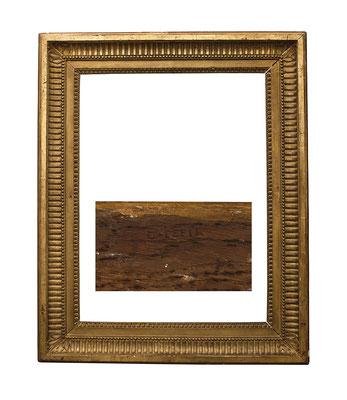 0892  Louis XVI Rahmen, sign. C. PEPIN, Eiche geschnitzt und vergoldet, 63,5 x 47,7 x 10,5 cm