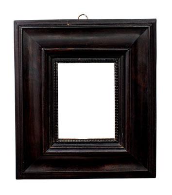 7767  Kabinett Rahmen, 17.Jh., Weichholz mit Ebenholz furniert, 12,7 x 9,4 x 7,5 cm