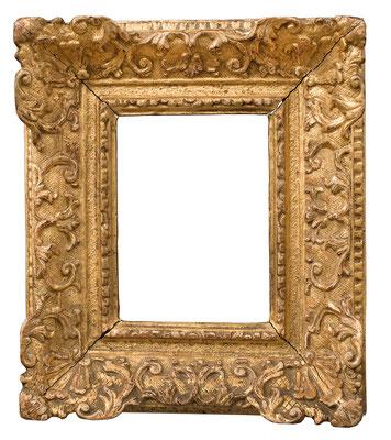1011  Louis XIV Rahmen, Eiche geschnitzt und vergoldet, 12 x 8,8 x 5,6 cm