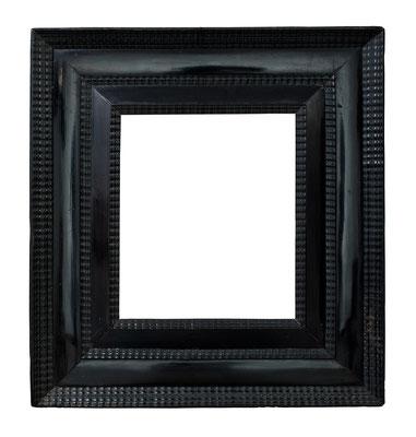 8414  Wellenleisten Rahmen, Niederlande 17.Jh., Ebenholz, 36,2 x 27,4 x 14 cm