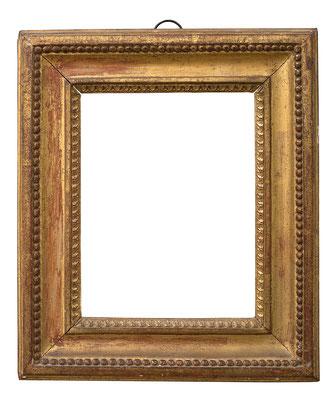 1035  Louis XVI Rahmen, Pinienholz geschnitzt und vergoldet, 21,5 x 16,7 x 6,1 cm