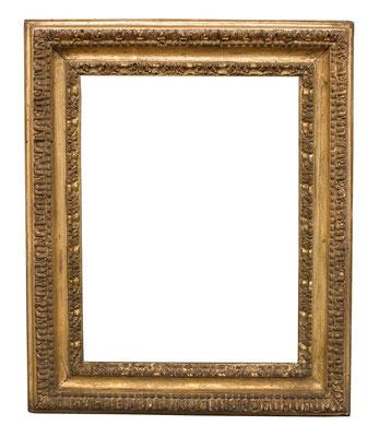 0498  Rahmen, Rom 17.Jh., Pappelholz geschnitzt und vergoldet, 21,5 x 16 x 4,3 cm