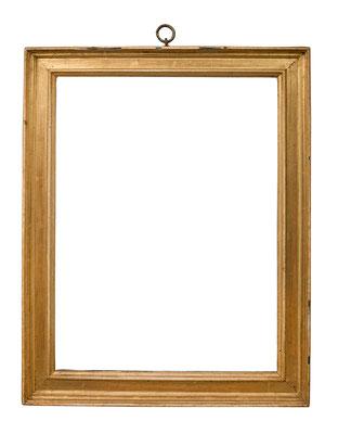0999  Kassettenrahmen, Mailand 16./ 17.Jh., Nussholz mit Ebenholz furniert und vergoldet, 45,2 x 33,2 x 4,8 cm