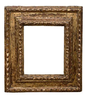 0872  Kassettenrahmen, Toskana/ Ligurien? 16.Jh., geschnitzt und vergoldet, 21,8 x 18,7 x 8,8 cm