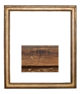 0397  Louis XVI Rahmen sign. C. PEPIN, Eiche geschnitzt und vergoldet, 56 x 47,5 x 4,7 cm