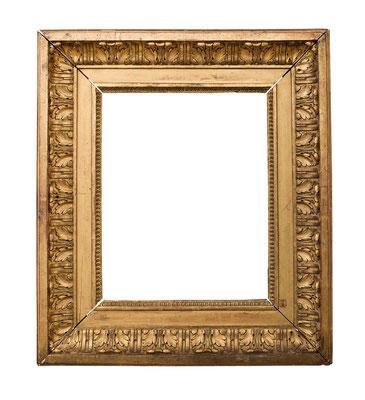 1049  Louis XVI Rahmen, Eiche geschnitzt und vergoldet, 26,3 x 20,7 x 8,2 cm